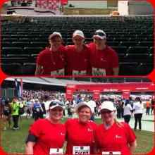 Before and after... 2013 Melbourne Marathon